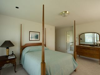 Boothbay Harbor house photo - Master Bedroom Suite with River Views from Five Windows