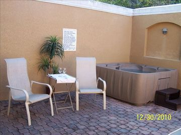 Six person hot tub also on your private patio to relax and enjoy!