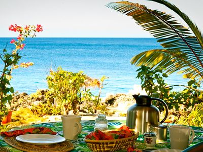 Picture yourself here!  Wake up to this spectacular view at Sea Grape cottage