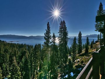 Tahoe City condo rental - View of Lake Tahoe From the Deck