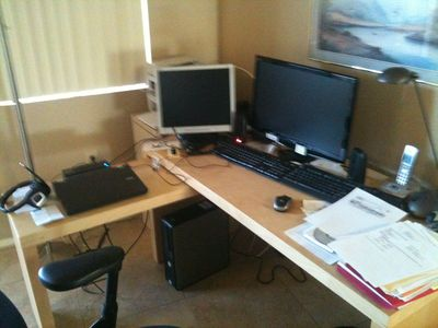 Desk / Work area, computer and internet available for use