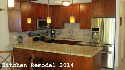 Kitchen remodel January 2014.  New granite counters, cabinets and appliances.