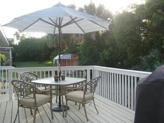Ormond Beach house photo - Deck with Commercial Barbecue