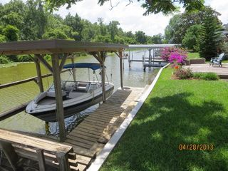 Tavares house photo - Boat dock with electric lift.