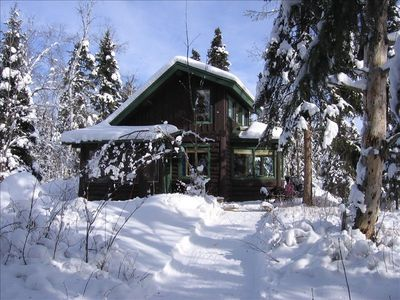 Ely cabin rental - Fresh new snow at Lark Lake