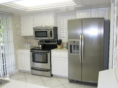New Stainless Steel Appliances in Kitchen