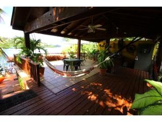 Culebra villa photo - Mid Outdoor Kitchen/BBQ & Stairways leading to Dock Facilities..