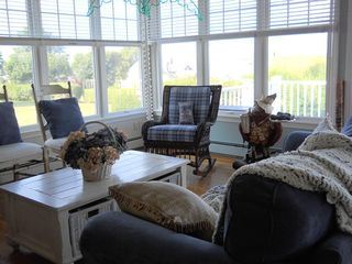 Easton's Point house photo - Family room with water view