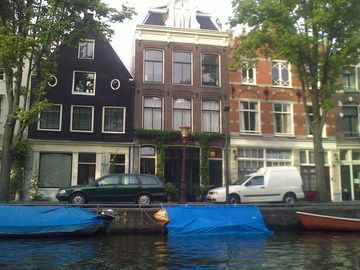 Our house seen from the canal.