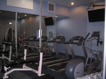 A well equipped work out room is available by obtaining the key from the lobby.