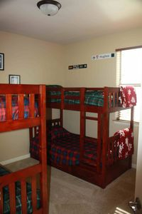 Bedroom 2: 2x twin bunk beds, plus a trundle. Plenty of drawer space too!