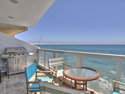 Malibu house rental - First Floor Balcony w/ Bar-B-Que
