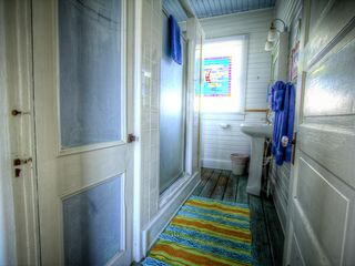 Tybee Island cottage photo - View looking into upstairs bathroom from the hallway.