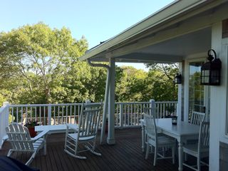 Provincetown condo photo - East Side of Private Deck for Relaxing & Dining