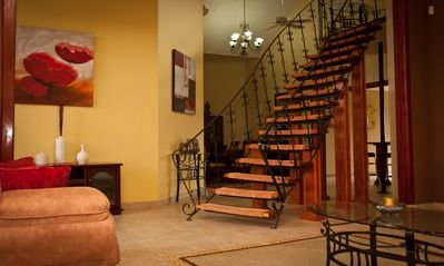 Grand Staircase to the upper master bedroom