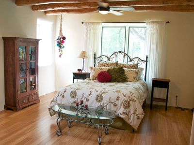 Albuquerque house rental - Charming bedroom with bamboo floors.