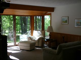 Canaan Valley cabin photo - New leather suite, big views of the outside
