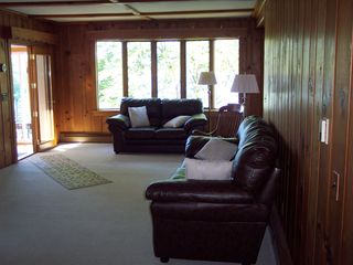 Gilford house photo - Living room. looking towards the LAKE