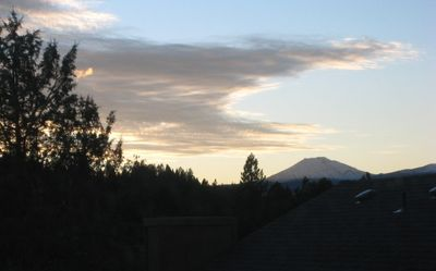 View of Mt. Bachelor from upstairs bedroom