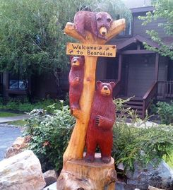 Big Bear Lake townhome rental - Very cool sign right in front of this very cool townhome!! Welcome!!