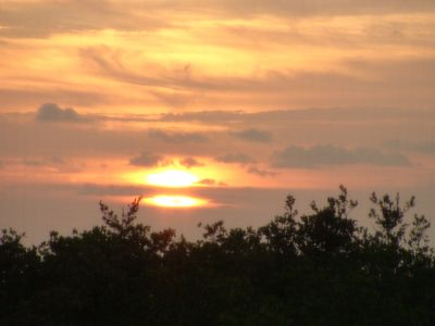 An example of a sunset view from our lanai