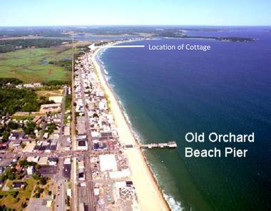 Location of Cottage; It is between Old Orchard Beach Pier and Pine Point