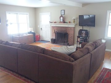 Living room with brand new couches