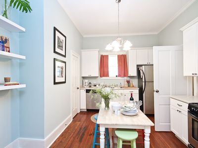 """Delight"" - Kitchen is open - door opens to back hall, half bath, & W/D"