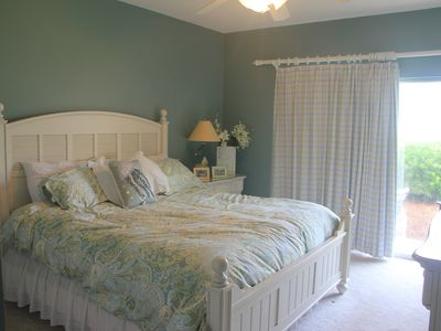 The Master suite (California King) with private patio; Enjoy > you pay the bill.