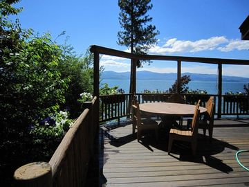 View of Flathead Lake from the main house deck.