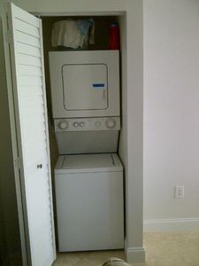 washer and dryer within unit