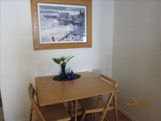 Ellison Bay cottage photo - The inside dining room....