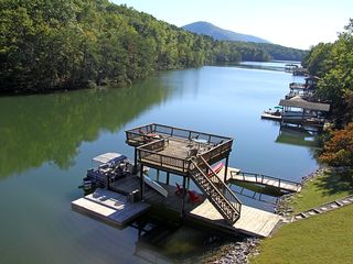 Huddleston house photo - Large Dock in No wake zone- no one across from you