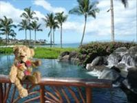 Enjoying beautiful views at Wailea Beach Villas