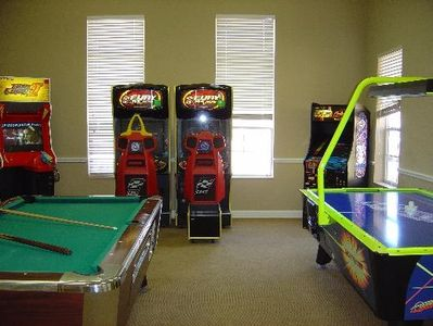Game room...just one more amazing amenity!