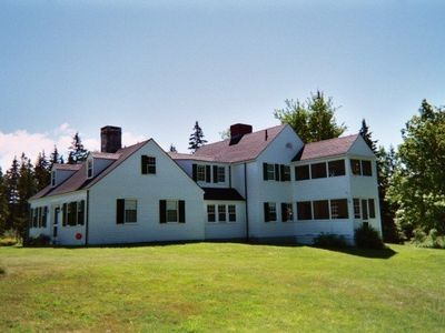 The House-Deer Isle vacation house on 93 Private Acres. Ocean across the street