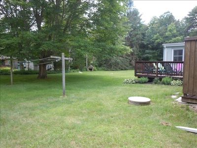 Large Backyard for Kids to Play in or for Relaxing Under the  Maple Tree.