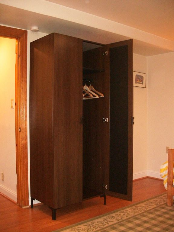 A large wardrobe for hanging clothes