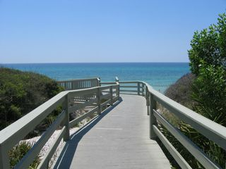 Seacrest Beach studio photo - A beach entrance to crystal white sugar sand; emerald green water.