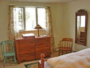 Orleans house photo - Lower bedroom with window facing water. Lovely view of the water and boats.