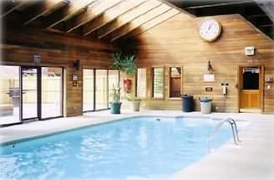 The Pool area in the Clubhouse, one hot tub inside and 3 outside (on the left)