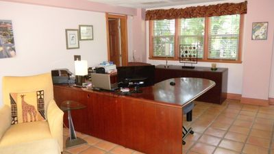 Large, well equipped office with Wi-Fi, wireless printing and flat screen TV.