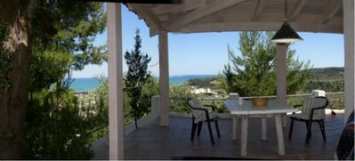 Cottage with stunning panoramic views of the Adriatic Sea in a quiet location
