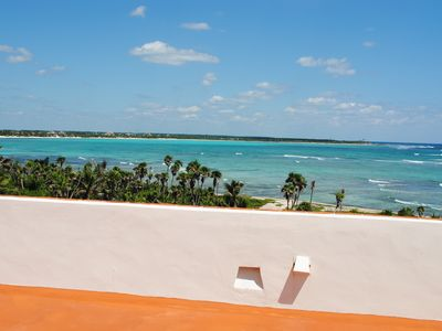 Views of Beautiful Soliman Bay from Roof Terrace