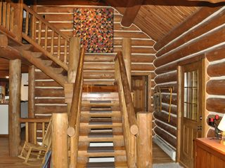 Piseco Lake lodge photo - Rustic Stairway.