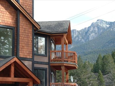 3rd floor condo with Rocky Mountain view plus smaller of 2 private decks
