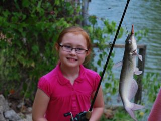 The fish are biting. - Livingston house vacation rental photo