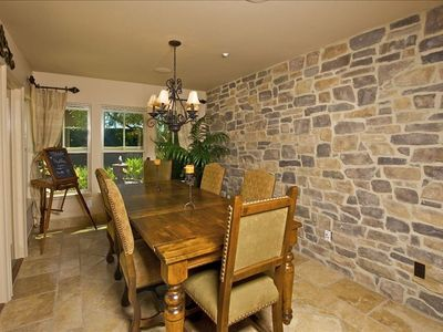 Rancho Santa Fe house rental - Dining Room, water feature trickling outside