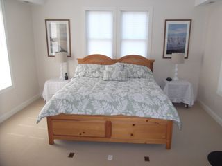 Cape May house photo - Master Bedroom with King size bed and a TV. Lots of space.