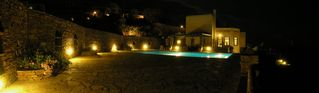 Andros villa photo - After sunset